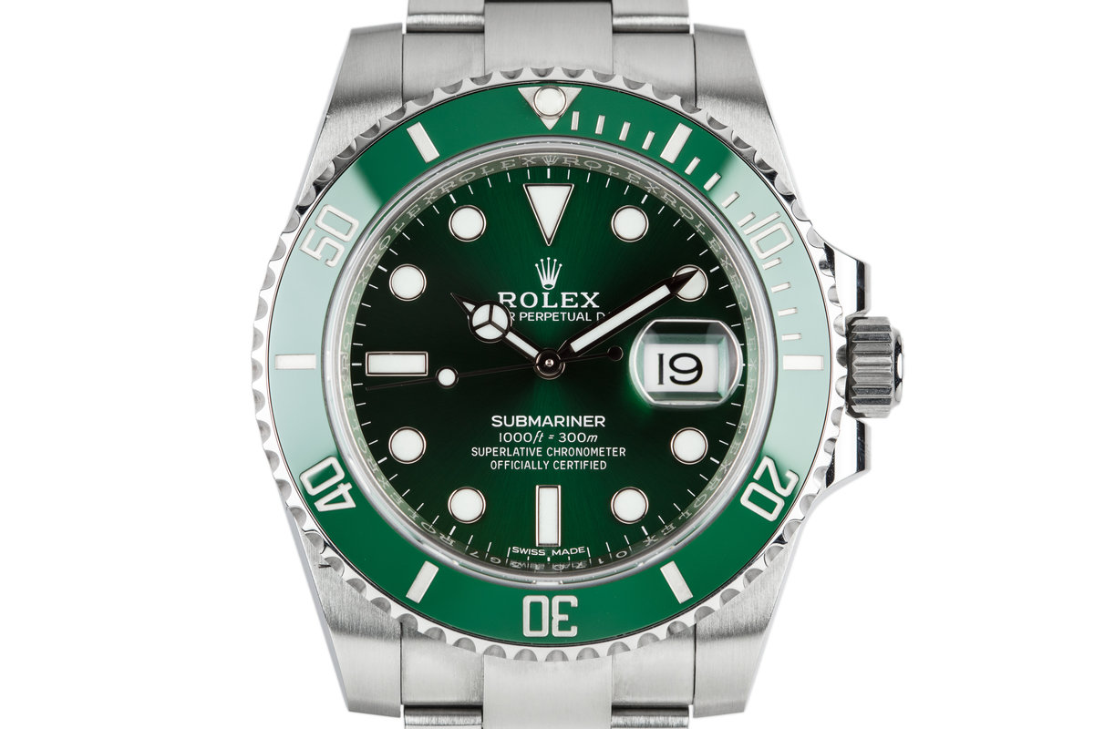 "2017 Rolex Submariner ""Hulk"" 116610LV with Box and Papers photo, #0"
