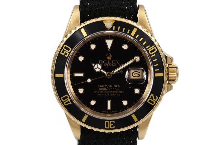 1987 Rolex YG Submariner 16808 photo