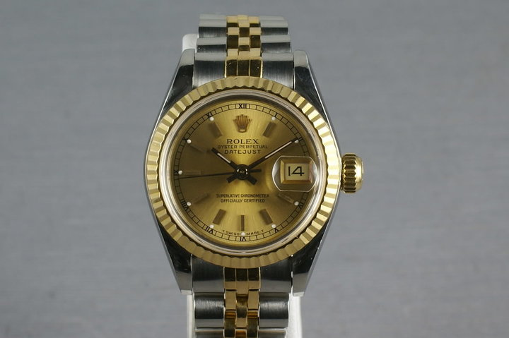 Rolex Ladies Datejust 69173 Box, Papers and Mr. Hudson Letter photo