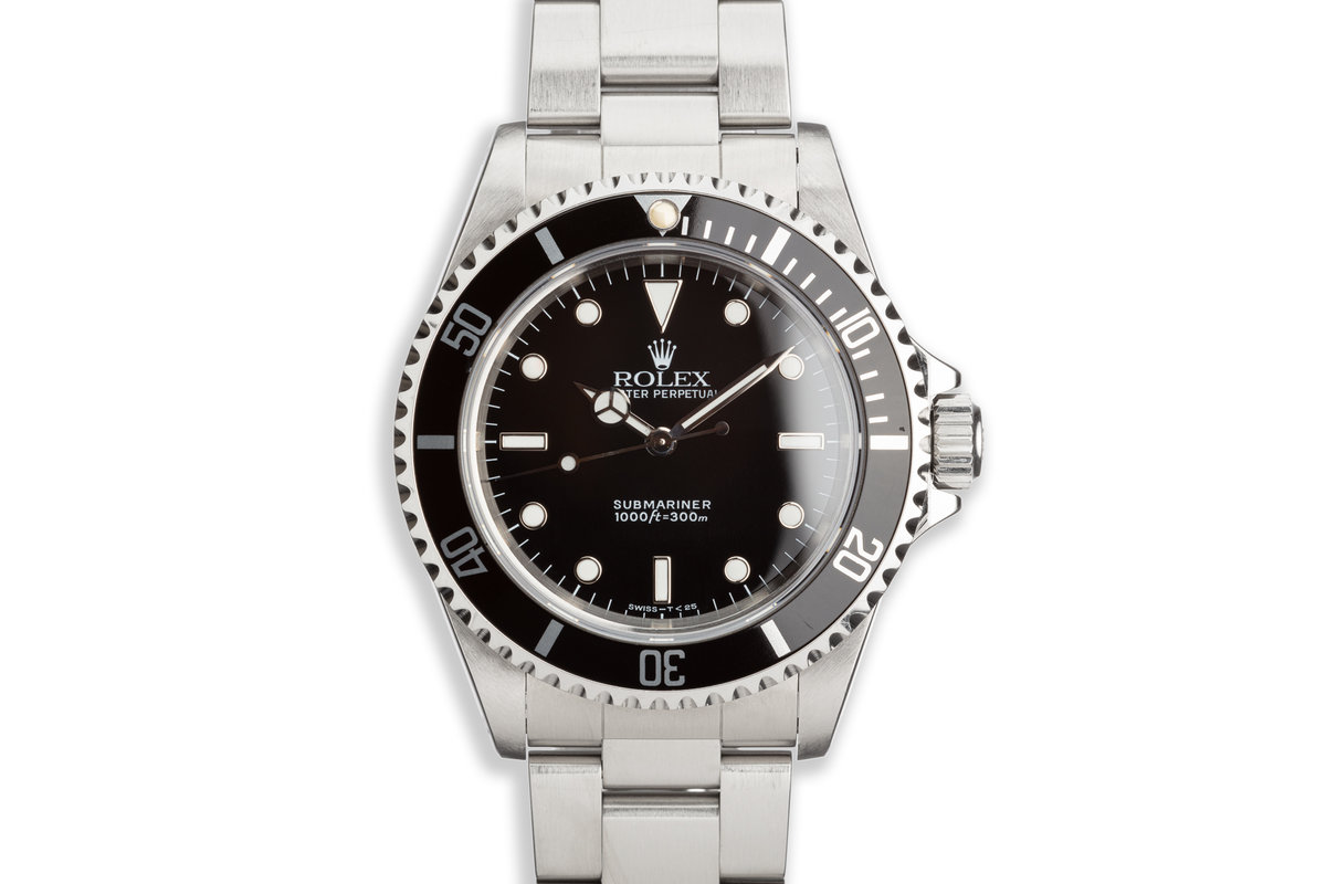 1997 Rolex Submariner 14060 with Box and Papers photo, #0