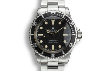 1980 Rolex Submariner 5513 with Mark 4 Maxi Dial photo