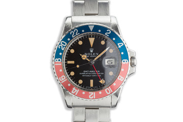 1968 Rolex GMT 1675 Mark 1 Box and Punched Papers photo