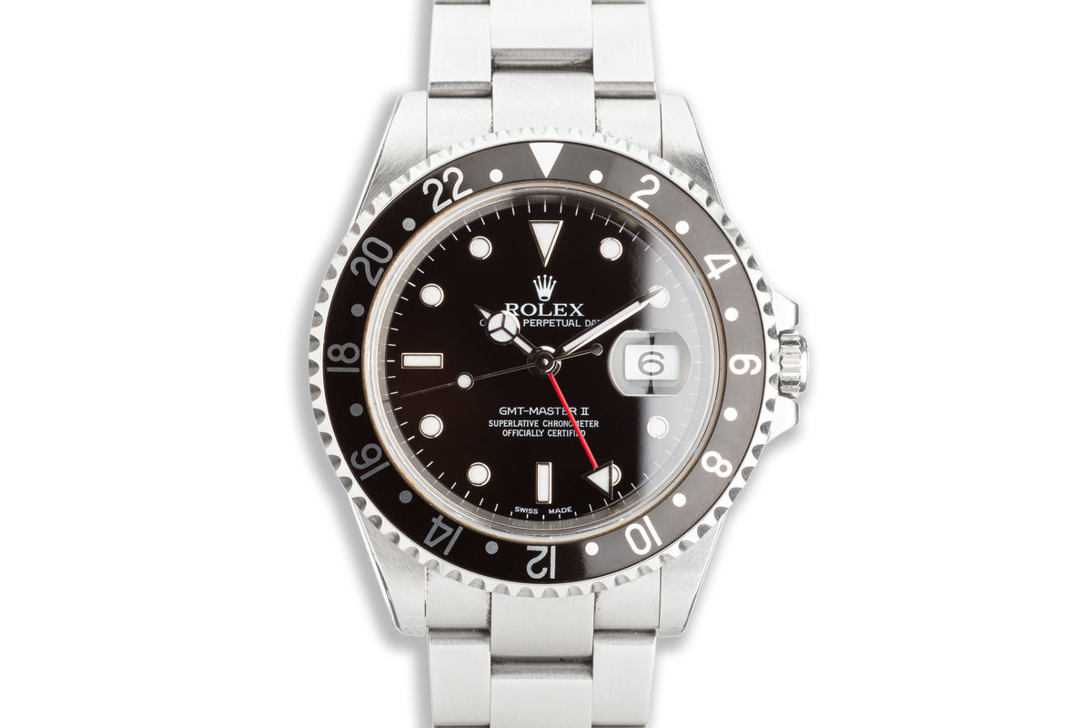 2000 Rolex GMT-Master II 16710 Black Bezel with Box & Papers photo, #0