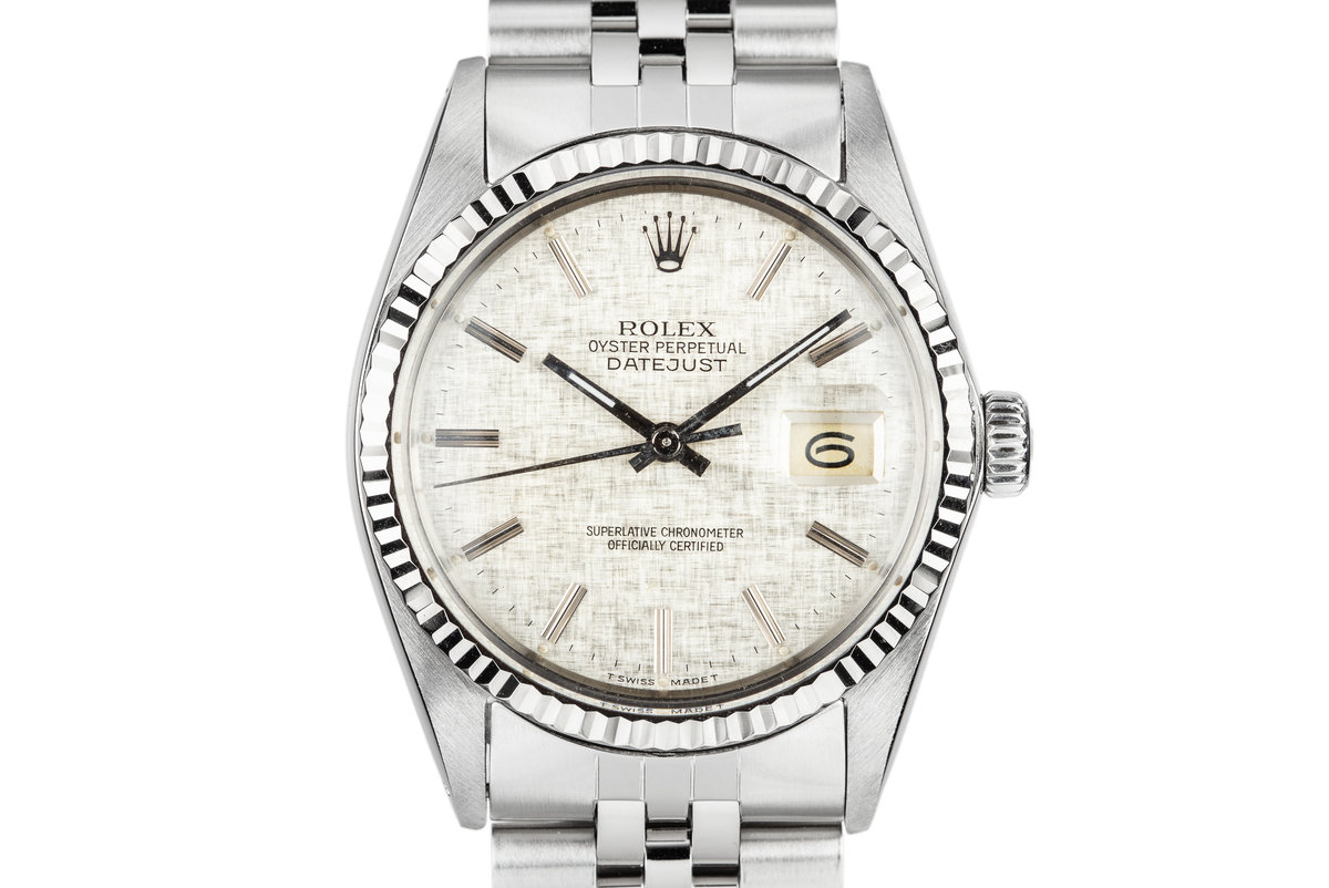 1984 Rolex DateJust 16014 Silver Linen Dial photo, #0