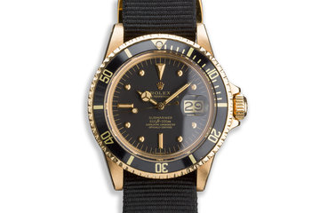 1979 Rolex 18K YG Submariner 1680 with Black Nipple Dial photo