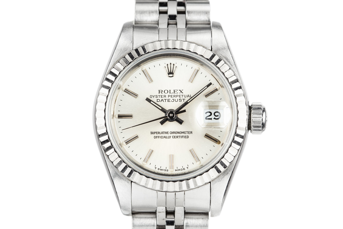 1987 Rolex Ladies DateJust 69174 Silver Dial with Box and Papers photo, #0