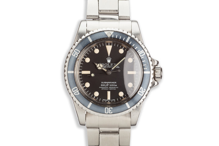 "1977 Vintage Rolex Submariner 5512 Mark III ""Lollipop"" Maxi Dial photo"