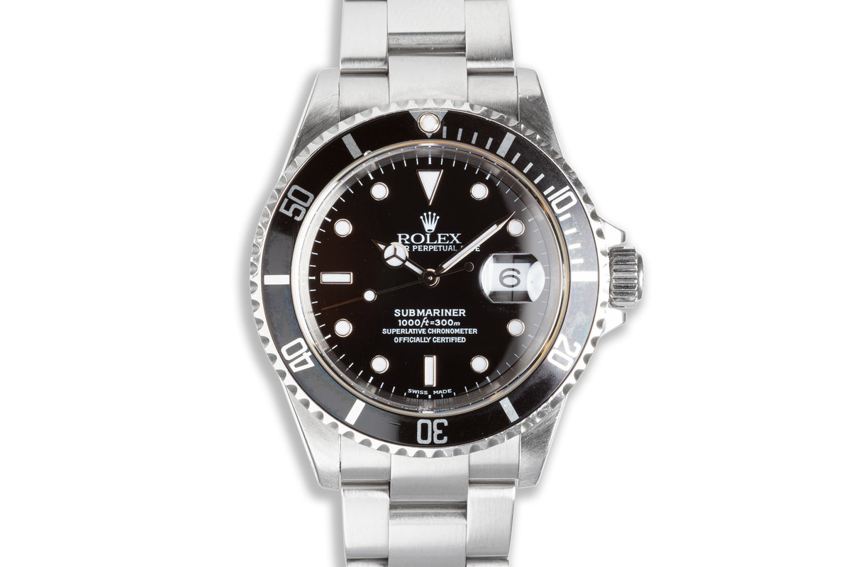 2000 Rolex Submariner 16610 with Box and Papers photo, #0