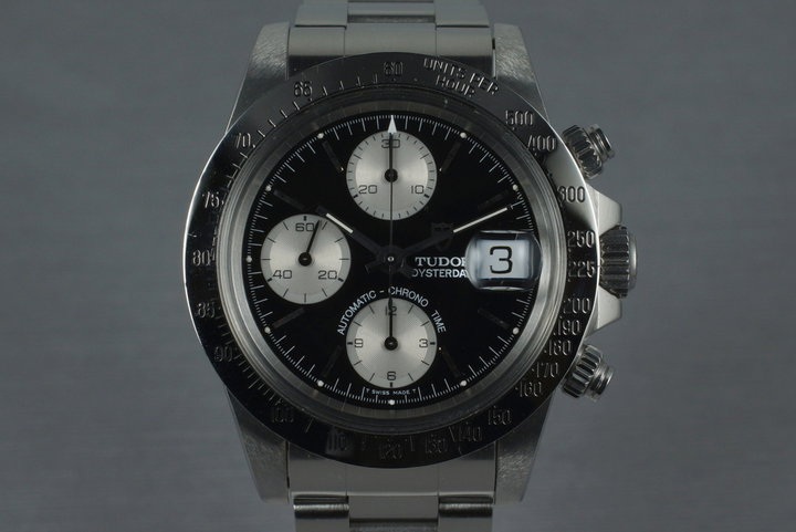 1994 Tudor Chronograph Big Block 79180 with Black Dial and Papers photo