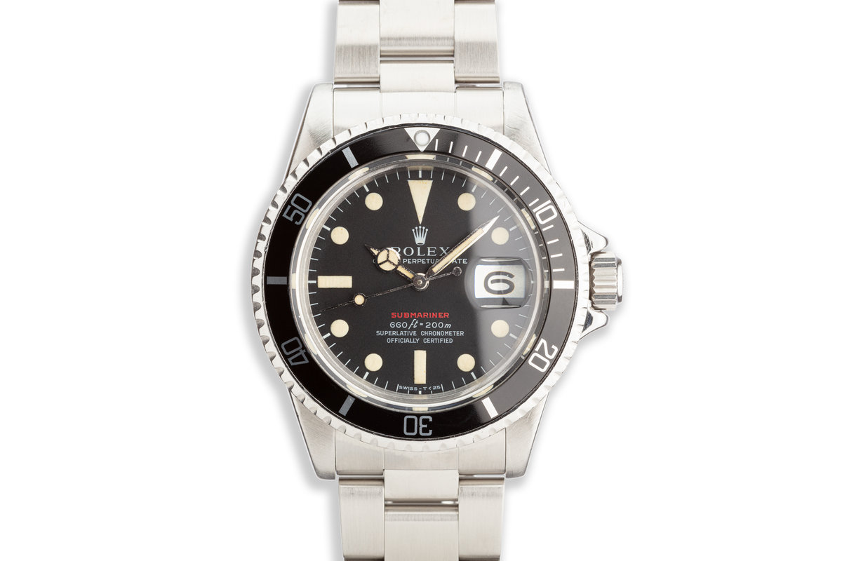 1972 Vintage Rolex Red Submariner 1680 MK IV Dial with Service Papers photo, #0