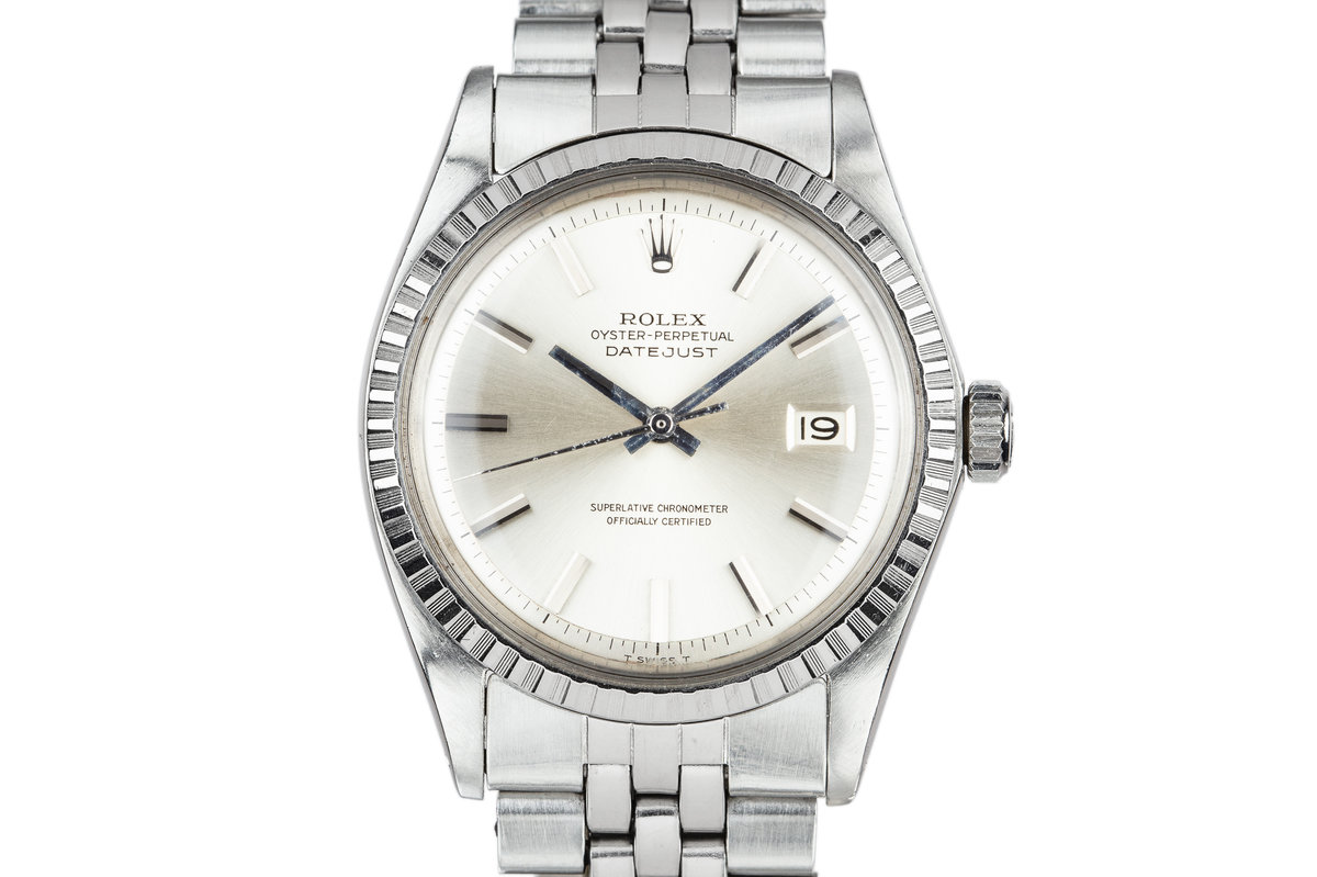 1970 Rolex DateJust 1603 No Lume Silver Dial photo, #0