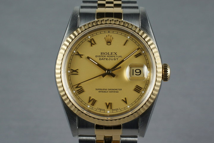 1993 Rolex Two Tone DateJust 16233 Matte Roman Numeral Dial photo