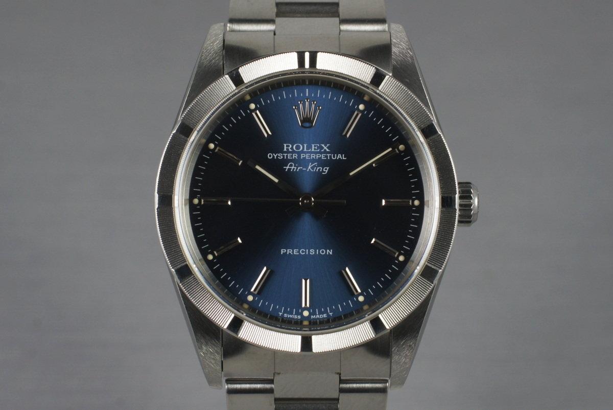 1997 Rolex Air-King 14010 Blue Dial photo, #0