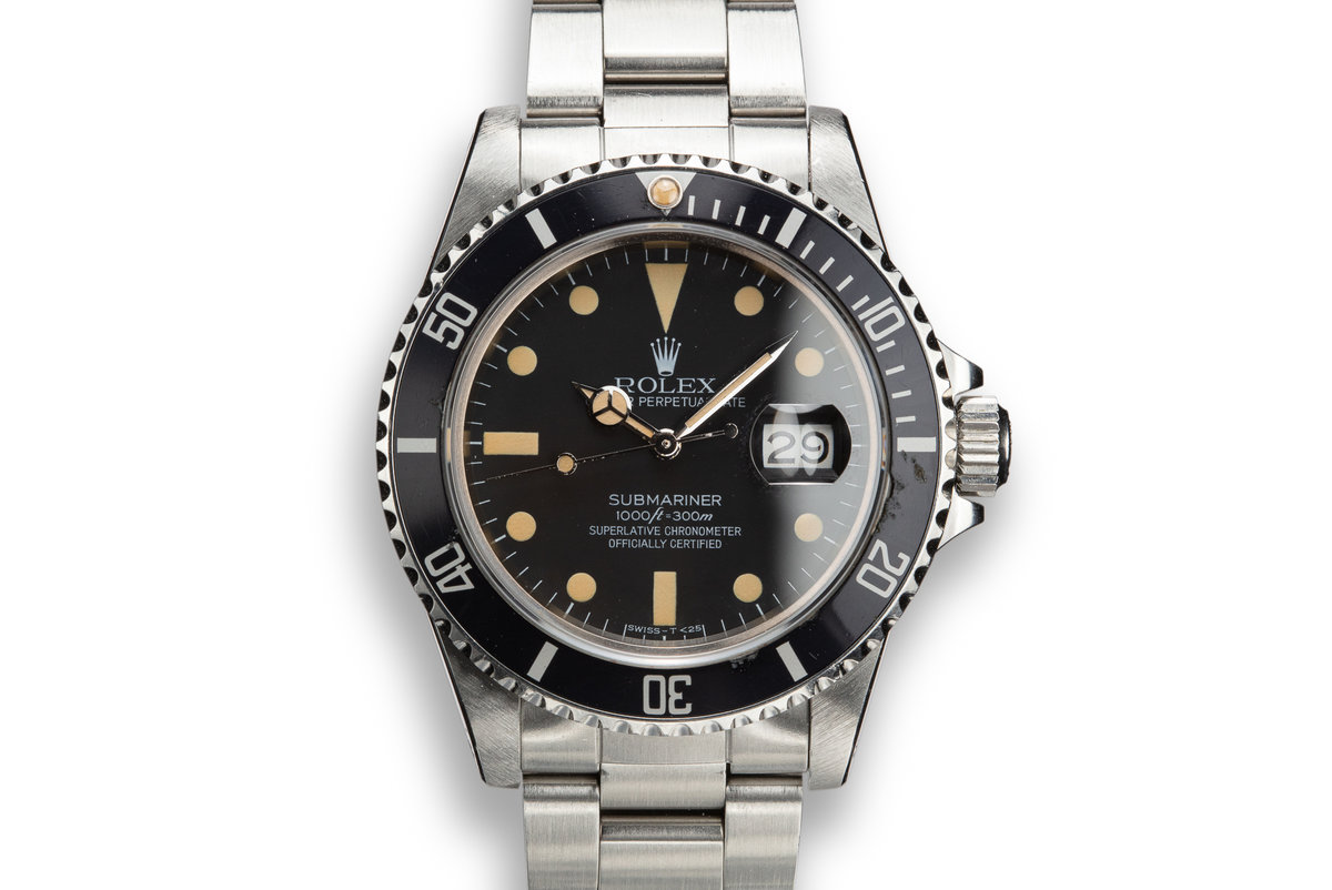 1984 Rolex Submariner 16800 Matte Dial with Box and Papers photo, #0