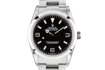 2001 Rolex Explorer 114270 with Service Papers photo