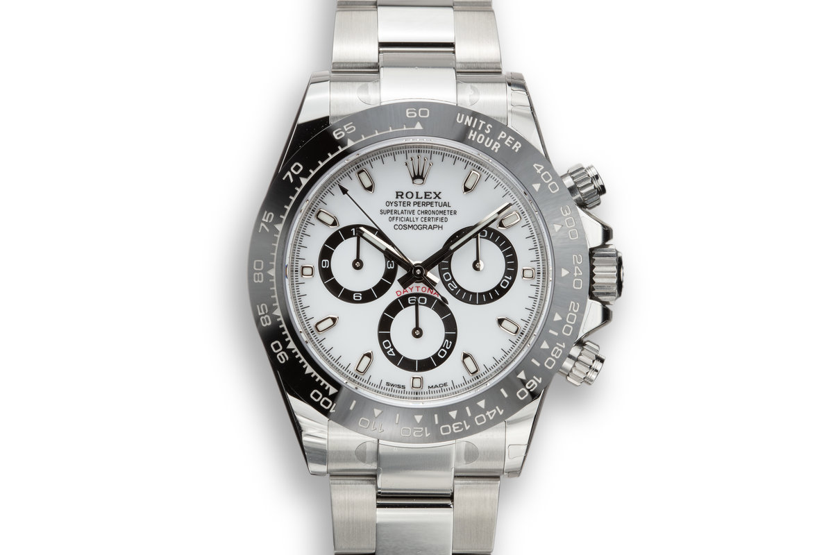 2019 Rolex Daytona 116500LN White Dial with Stickers and Box and Papers photo, #0