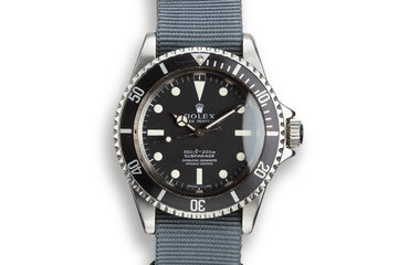 1966 Rolex Submariner 5512 with Newer Serif Dial photo