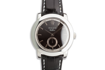 2001 Rolex Platinum Cellini 5241 photo