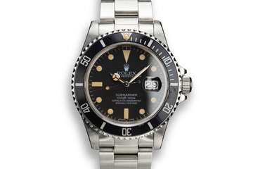 1984 Rolex Submariner 16800 Matte Dial with Box and Papers photo