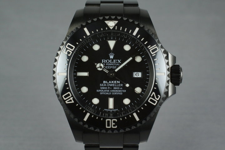 2009 Rolex Blaken Deep Sea Dweller 116660 with Blaken Box and Papers photo