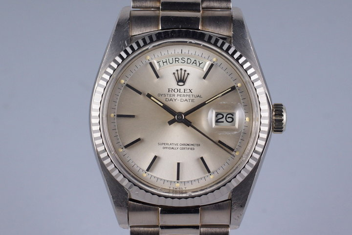 1978 Rolex WG Day-Date 1803 Silver Dial photo
