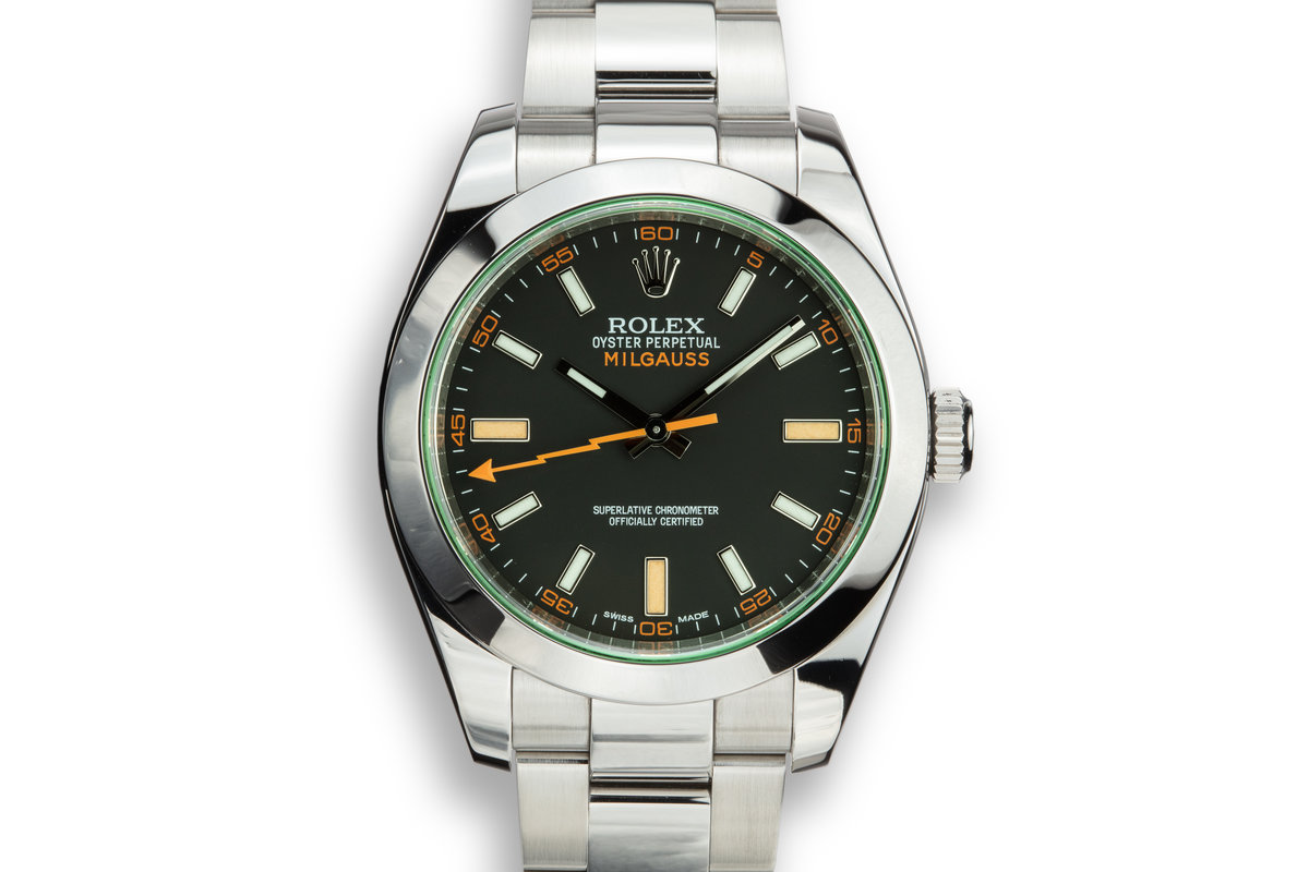2013 Rolex Milgauss 116400V Black Dial with Box and Papers photo, #0