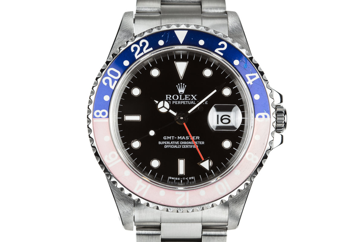 """1997 Rolex GMT-Master 16700 with Faded """"Pepsi"""" Bezel. photo, #0"""