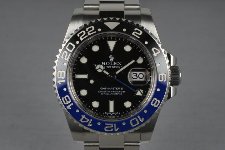 2013 Rolex GMT II 116710BLNR with Box and Papers photo