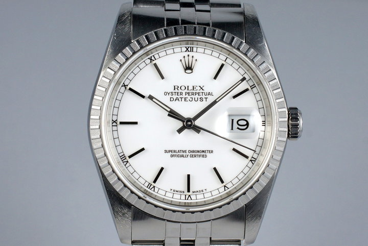1989 Rolex DateJust 16220 White Dial photo