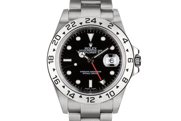 2007 Rolex Explorer II 16570 with Black Dial with Box and Papers and 3186 Movement photo