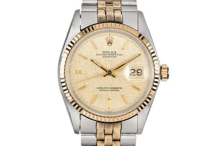 1972 Rolex Two Tone DateJust 1601 With Linen Dial photo