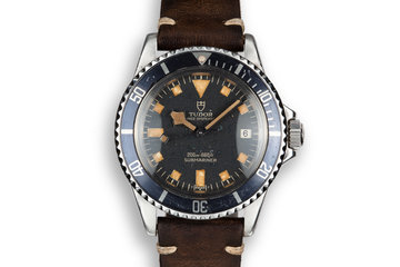 1973 Tudor Snowflake Submariner 9411/0 Black Dial photo