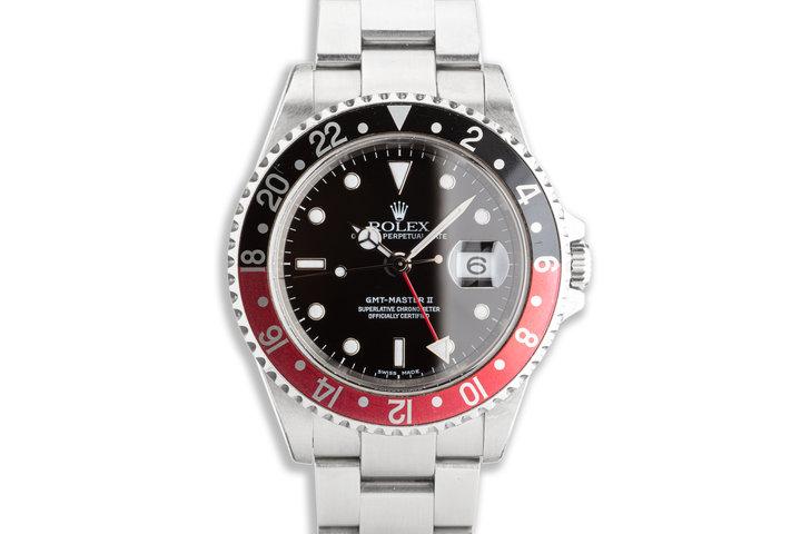 """2002 Unpolished Rolex GMT-Master II 16710 """"Coke"""" Bezel photo"""