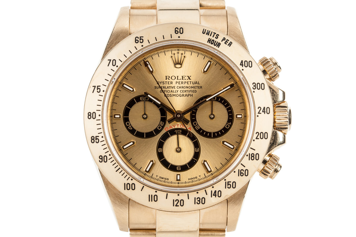 1995 Rolex 18K Gold Zenith Daytona photo, #0
