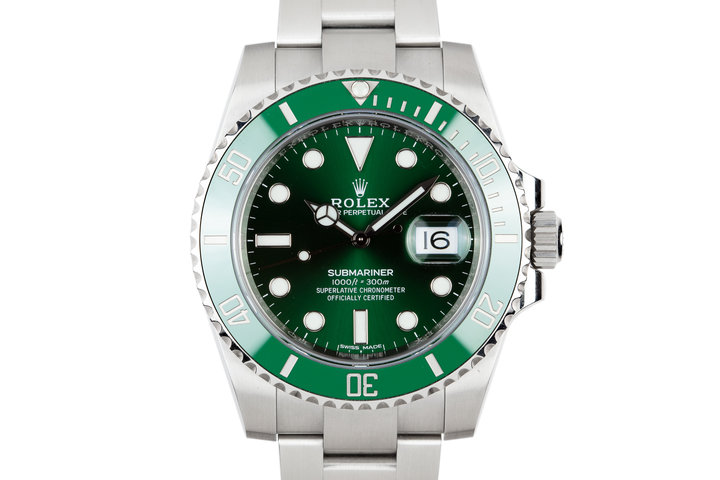 "2018 Rolex Ceramic Green Submariner 116610LV ""Hulk"" with Box and Papers photo"