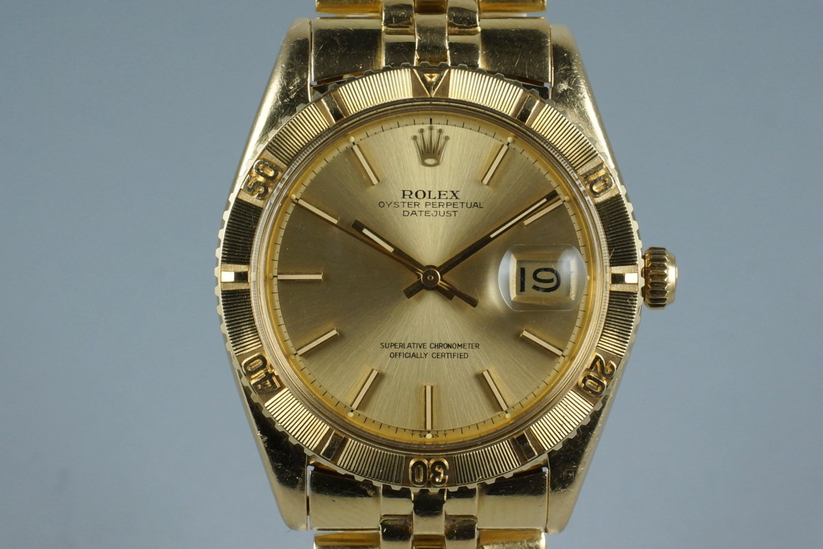 1973 Rolex YG DateJust Thunderbird 1625 photo, #0