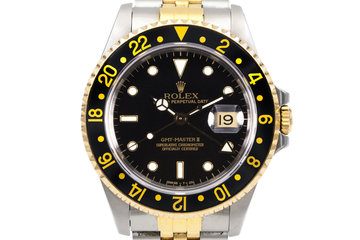 1990 Rolex Two Tone GMT II 16713 Black Dial photo
