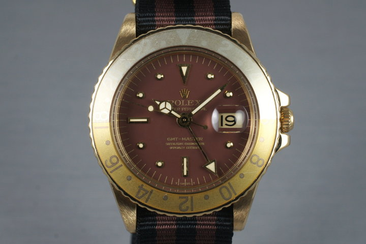 1970 Rolex YG GMT 1675 with Root Beer Dial photo