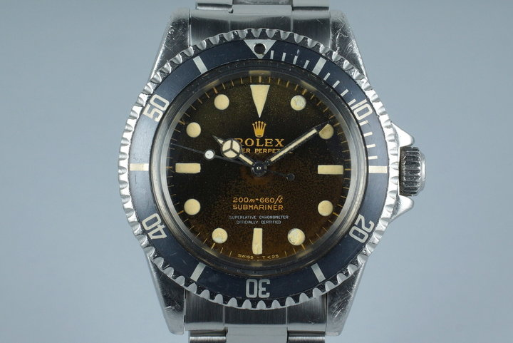 1965 Rolex Submariner 5512 with Tropical Glossy Gilt 4 Line Dial photo