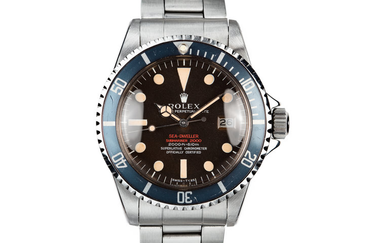 1967 Rolex Double Red Sea-Dweller Thin Case 1655 with MK II Tropical Dial photo