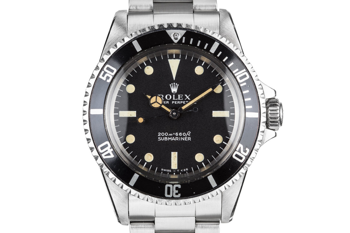 1967 Rolex Submariner 5513 with Meters First Dial with Kissing 40 Insert photo, #0