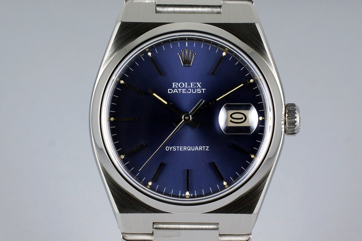 1978 Rolex OysterQuartz Datejust 17000 Early Blue Non-COSC Dial photo, #0