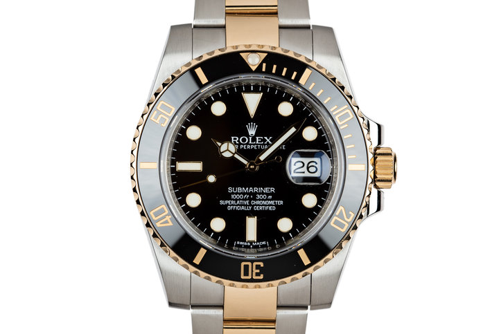 2011 Rolex Ceramic Two-Tone Submariner 116613 photo