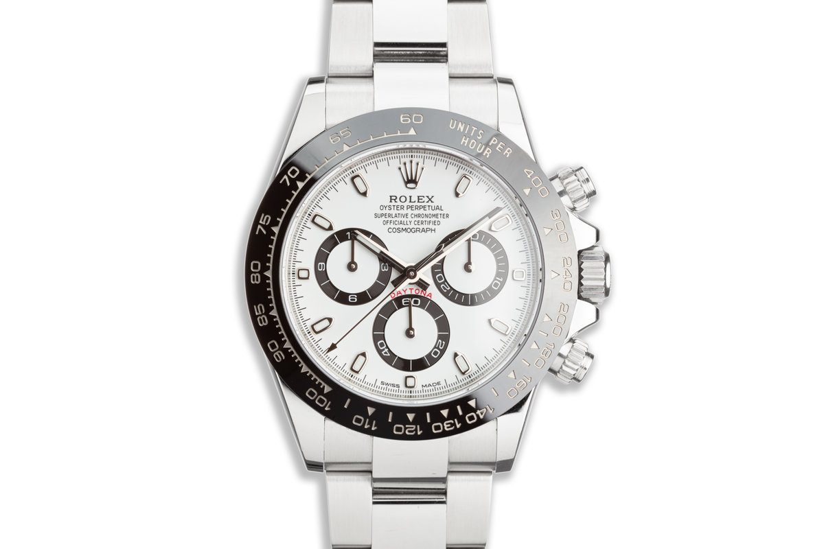 2019 Rolex Daytona 116500LN White Dial with Box and Card photo, #0