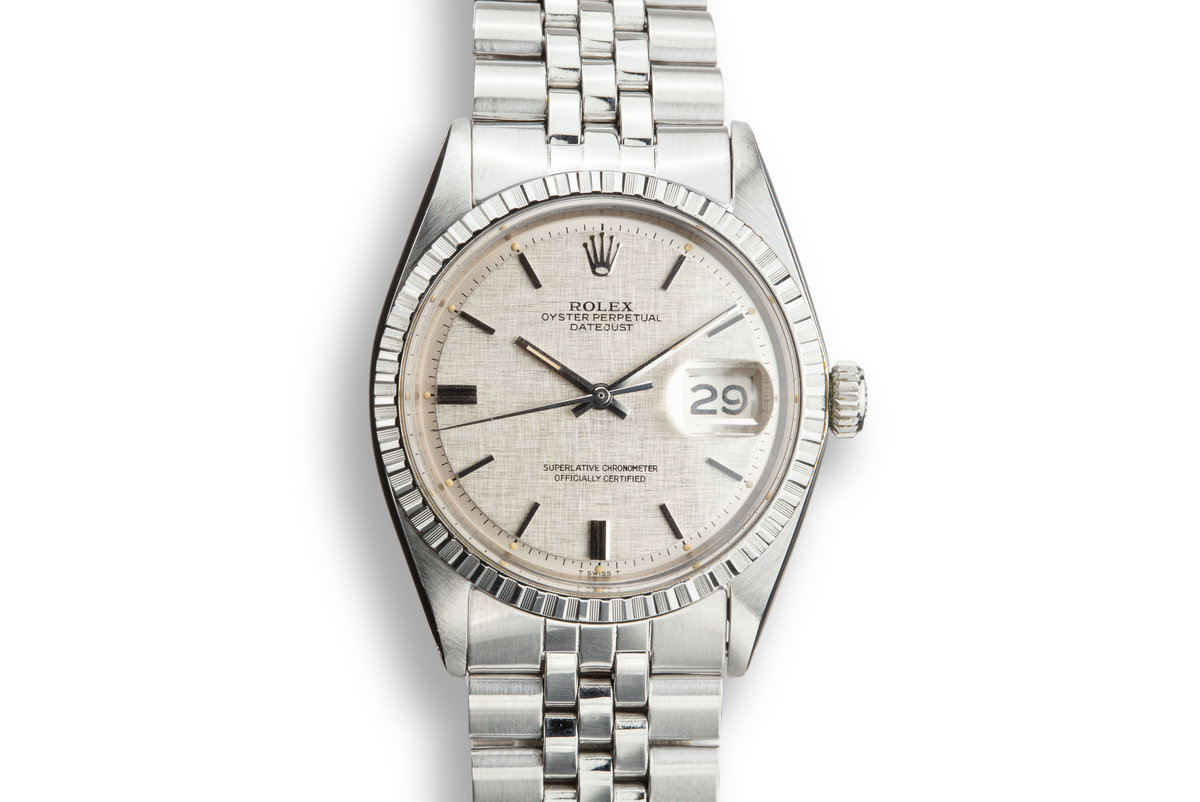 1971 Rolex DateJust 1603 with Silver Linen Dial photo, #0