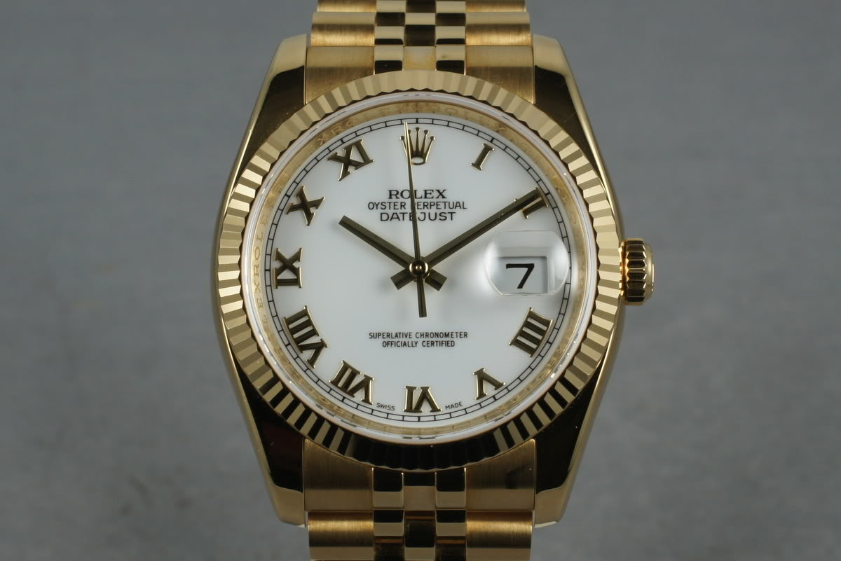2006 Rolex 18K Datejust 116238 with Box and Papers photo, #0