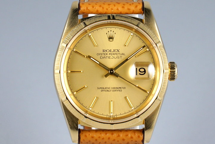 1994 Rolex YG Bark DateJust 16248 Matte Champagne Dial photo
