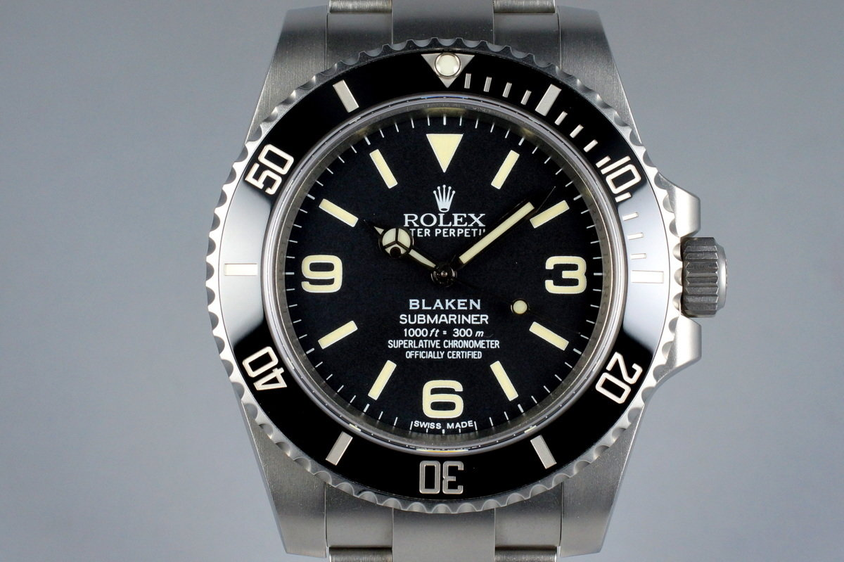 2013 Blaken Rolex Submariner 'Explorer Dial' with Blaken Box and Papers photo, #0