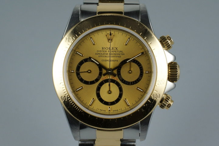 1989 Rolex Two Tone Zenith Daytona 16523 with RSC Papers photo