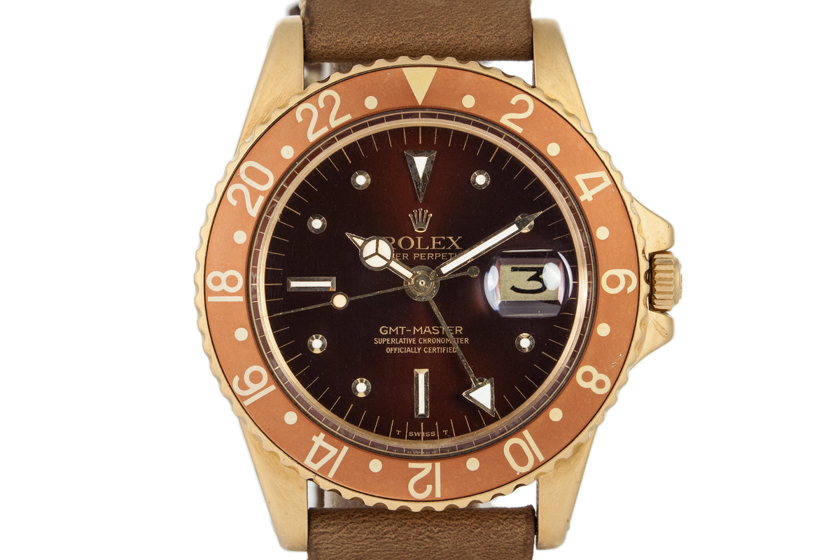 1971 Rolex 18K YG GMT 1675 with Rootbeer Dial photo, #0